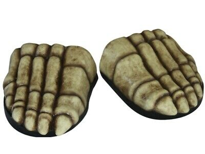 Foot Covers - Skeleton Feet - Halloween Fancy Dress Costume Shoes Accessory
