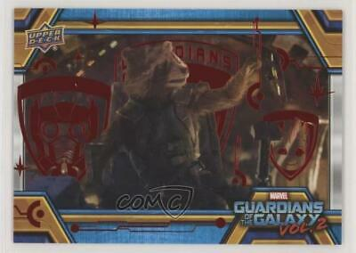 2017 Upper Deck Guardians of the Galaxy Volume 2 Red/49 Flying Laser Drill 0ad