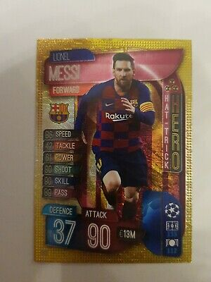 LIONEL MESSI Match Attax 2019/20 Hat Trick Hero Trading Card Barcelona