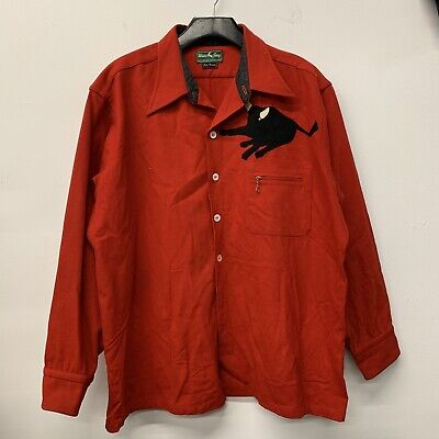 VTG 40s 50s White Stag Boy Scouts Shirt Jacket Mens SZ XL Philmont Black Bull