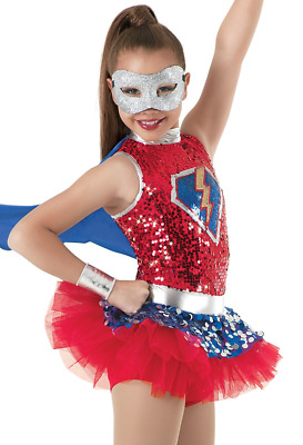 Weissman 8745 Save the Day - red and blue dance costume - Adult XL