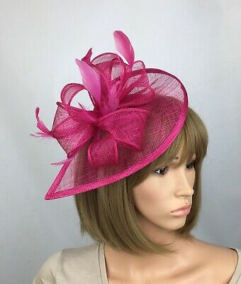 Fuchsia Pink Fascinator Hat Wedding Hatinator Mother Of The Bride Ascot Races
