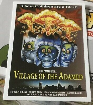 NYCC 2019 Exclusive VILLAGE OF THE ADAMED Promo Card TOPPS Garbage Pail kids GPK