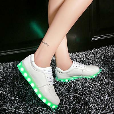 LED Light Up Shoes Luminous Sneakers Men Women Kids Girl Fashion Leather Shoes