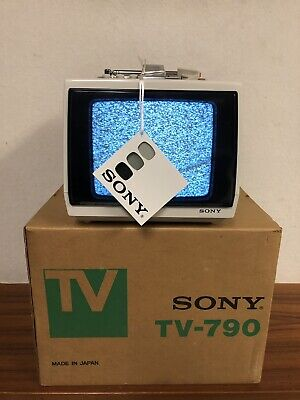 Rare vintage sony tv-790 television ~ NOS B/W Mint - L@@k!!