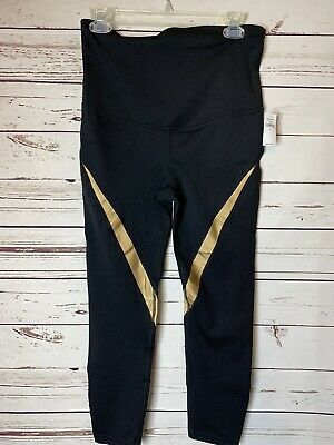 Gap Black w/Gold Maternity Full Panel Eclipse Leggings--NWT--Small/S
