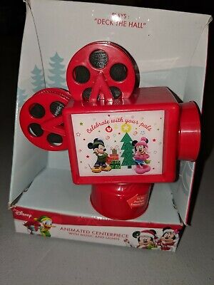 NEW Disney Mickey Mouse Christmas Animated Centerpiece Music & Projector Light