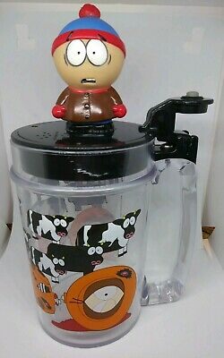 South Park Stan Marsh Tankard Stein Plastic Cup With Lid 1998 Vintage Vtg