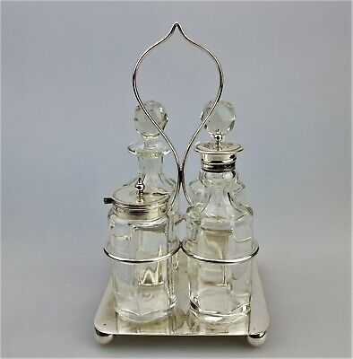 Vintage Silver Plated Cruet Set - Complete