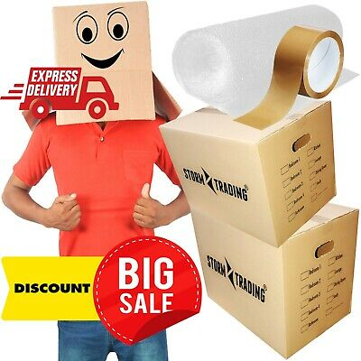 10 LARGE MOVING BOXES Double Wall Cardboard Box NEW ✔ Removal Packing Shipping ✔
