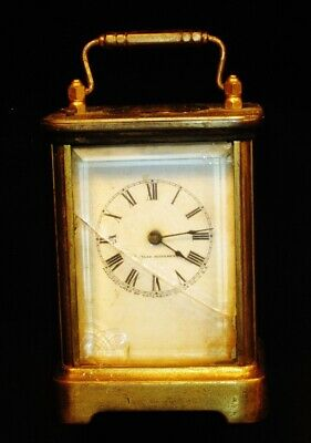 Early Waterbury Carriage Alarm Clock as found