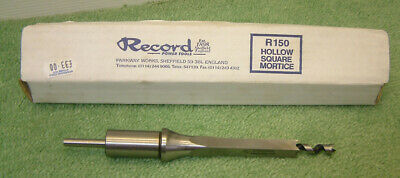 RECORD POWER R150 Hollow Square Mortice Chisel & Bit 3/8 inch & 9/16 inch
