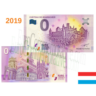 Billete 0 Euro Souvenir '' Chateau de Bourscheid '' 2019