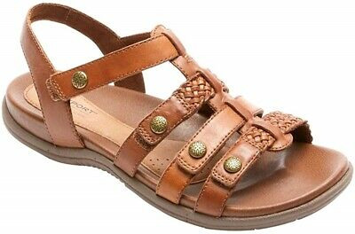 Blue adjustable straps Rockport Cobb Hill Rubey T-Strap Sandals ch0075 Taupe