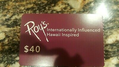 $40 Roy's Restaurant Dining Card ($40 off $100 purchase) Free Shipping