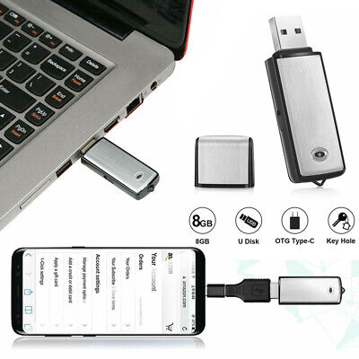 8GB USB Dictaphone Voice Recorder Listening Memory Device Stick Recording U disk