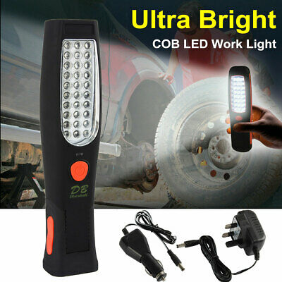 Ultra Bright COB LED Work Light Torch Rechargeable Cordless Inspection Lamp Mag