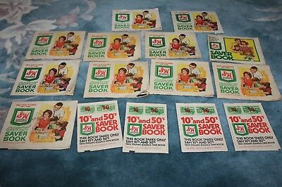 Lot of fifteen (15) vintage 1960s S&H Sperry & Hutchinson trading stamp books
