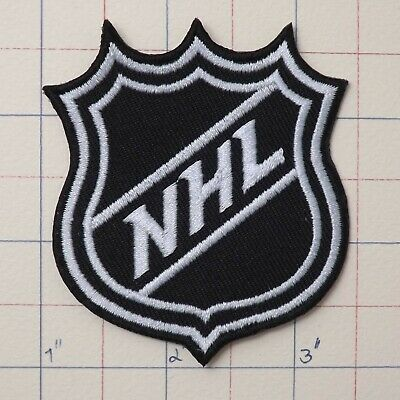 "3.0""x1pc. nhl ice hockey shield logo emblem embroidered iron on sew patch"