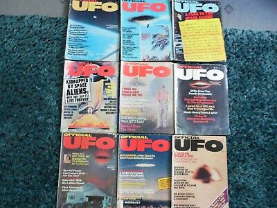 Set Of 9 Official Ufo Mags.76/77.Originals.