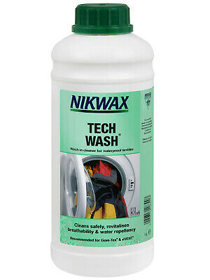 NEW Nikwax Aftercare Tech Wash 1 Litre After Care Black