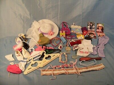 AMERICAN GIRL Doll 43 piece Lot of Accessories- Hats- Hangers- Clothes- Retired