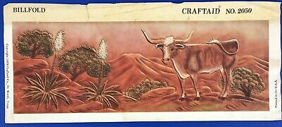 Vtg Craftaid Leather Billfold Template #2050 Longhorn Craftool Pattern