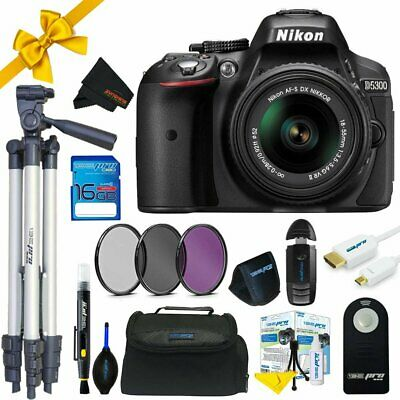 Nikon D5300 DSLR Camera with 18-55mm Lens+ Sunshine Pro Bundle
