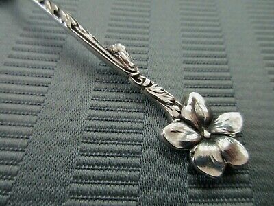 TIFFANY & Co Demitasse Spoon VIOLET Floral 1885 AESTHETIC STERLING SILVER Mono