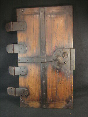 ANTIQUE(c.1780) EDO ERA  JAPANESE TANSU CHEST DOOR.  ALL FORGED IRON
