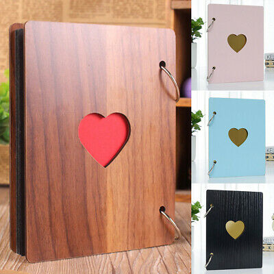 Wood Color Photo Album Holds 15 Sheets/30Pages Photos Holiday Wedding Images UK