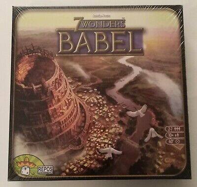 7 Wonders Babel Expansion Board Game Asmodee Repos New