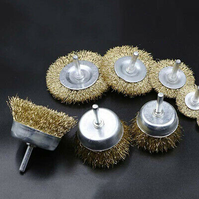 Discs Rotary Tools Brass Wire Wheel Flat Cup Brush Rust Removal Polishing