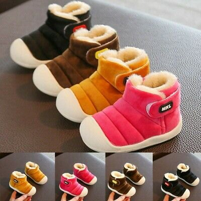 Toddler Infant Kids Baby Girls/Boys Winter Warm Short Boots Casual Flock Shoes
