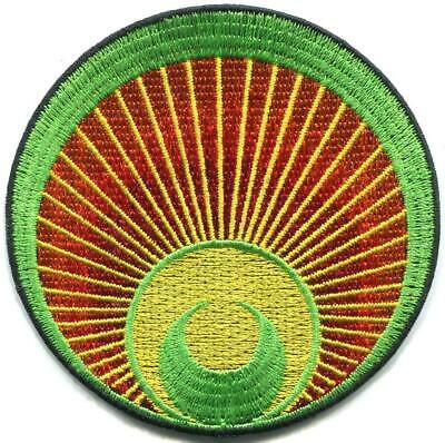 Crop circle ufo alien grey ET area 51 embroidered applique iron-on patch C-1