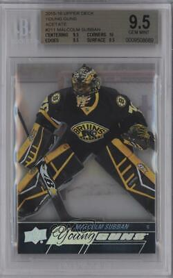 2015-16 Upper Deck Young Guns Acetate Malcolm Subban #211 BGS 9.5 Rookie