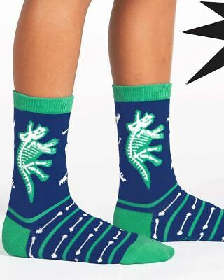 Sock It To Me Dinosaur Bones Glow In The Dark Archaeology Kids Crew Socks Cool