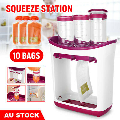 Infantino Squeeze Station Pouches Juice Reusable  Baby Feeding Food Storage Bags