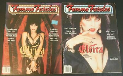 Lot of 2 Femme Fatales Magazines - ELVIRA Mistress of the Dark Covers