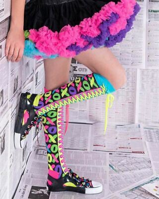Madmia Colourful Crazy XOXOXO Socks Kids Adults Fun Fluro Cool Mismatched Gift