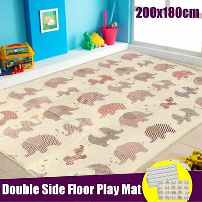 200x180cm Baby Crawling Rug Thick Play Cover Mat Game Waterproof Floor Carpet