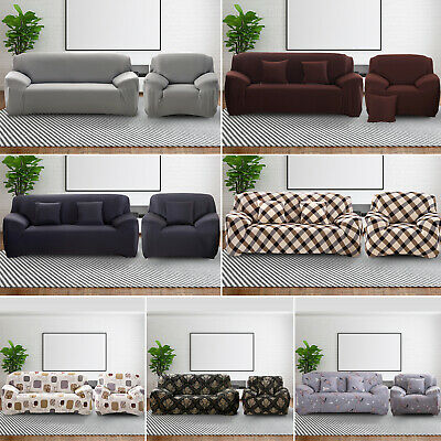 Sofa Covers Elastic Stretch Settee Slipcover Protector Couch Floral 1/2/3 Seater