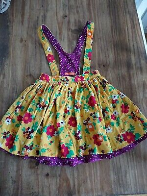 Little Bird Yellow Floral Cord Skirt with Braces Set Age 5-6 years Jools Oliver