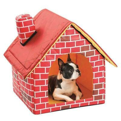 Portable Indoor Kennel Dog House Small Pet Soft Home Winter Warm Cozy Puppy Bed