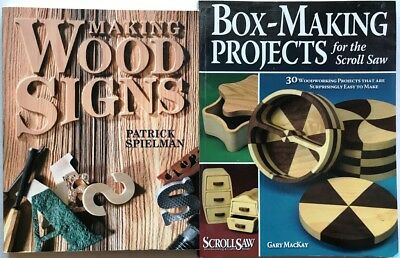 Box-Making Projects Scroll Saw, Making Wood Signs 2 Woodworking Books