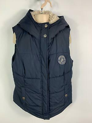 Girls Abercrombie&Fitch Navy Blue Lined Winter Padded Gilet Body Warmer Kids M