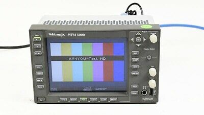 Tektronix WFM5000 Multi-format Waveform Monitor OPT: SD HD DG Audio #B010653