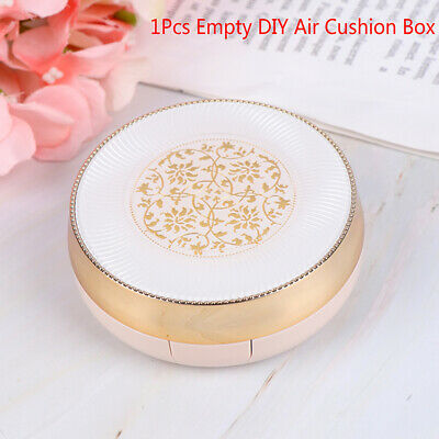1Pc Portable Make-Up Empty DIY Air Cushion Box Bb Cream Container With Mirror~GN