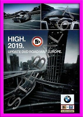 Dvd Cd Bmw Road Map Europe High 2018-2019 Mappe Navigatore + Autovelox