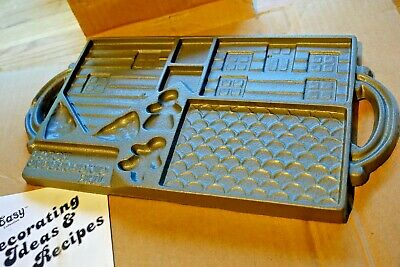Cast Iron Christmas Gingerbread House Mould - Double Sided 1985 John Wright USA